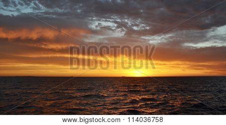 Orange Sunset, Indian Ocean: Western Australia