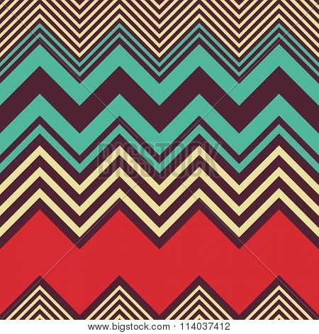 Seamless ZigZag Pattern. Vector Colorful Background