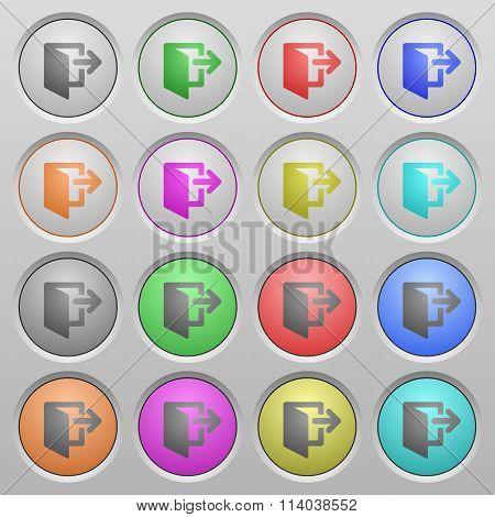 Exit Plastic Sunk Buttons