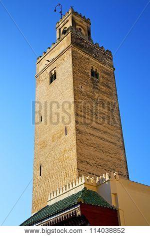 The History In Maroc Africa  Minaret  Blue    Sky