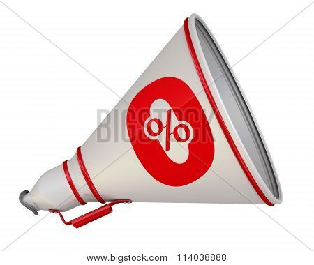 Zero percent. The megaphone with the red symbol
