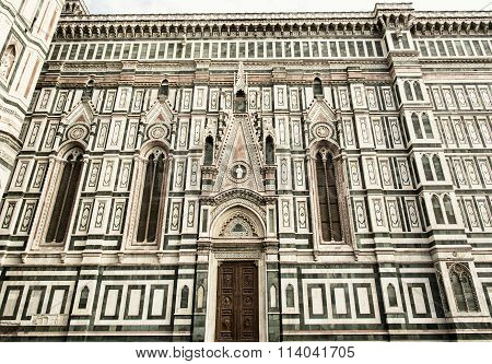 Facade Of The Florence Cathedral Santa Maria Del Fiore