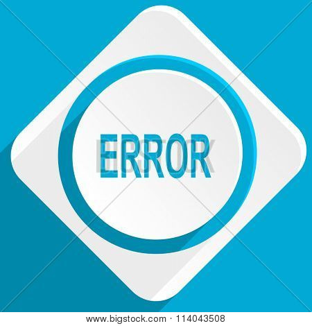 error blue flat design modern icon for web and mobile app