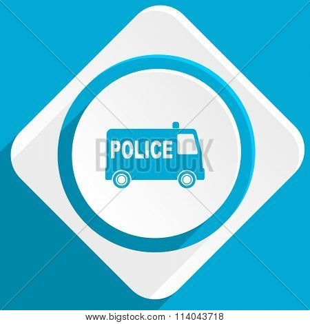 police blue flat design modern icon for web and mobile app