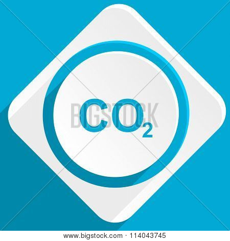 carbon dioxide blue flat design modern icon for web and mobile app