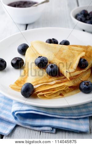 Sweet Pancakes With Berries