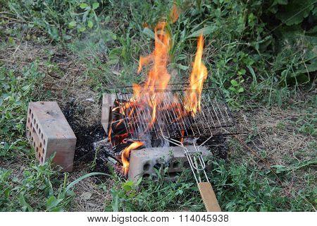 Hot Coals For A Barbecue