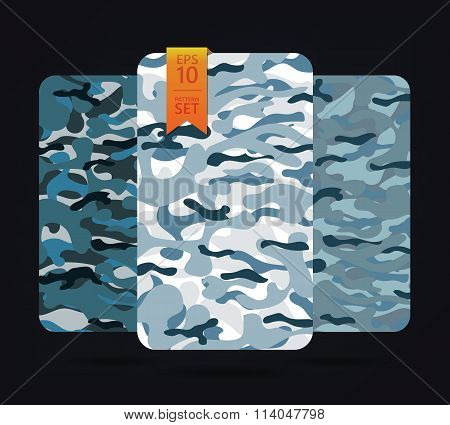 The fabric on military camouflage