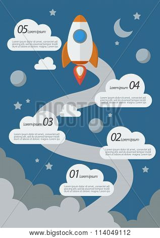 Rocket Launch Infographic