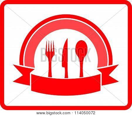 red kitchen icon