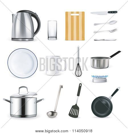 Realistic Kitchen Utensils