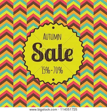 Sale retro poster. Discounts banner template.