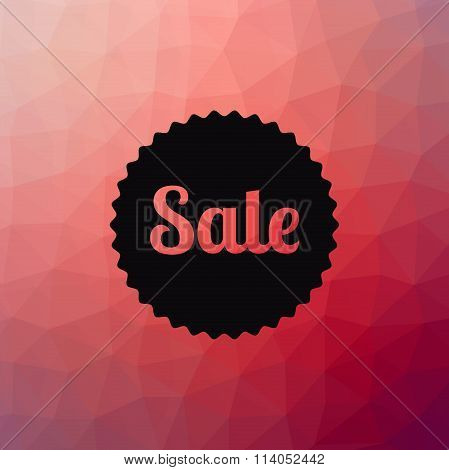 Sale poster. Discounts banner template. Polygonal geometric background design.