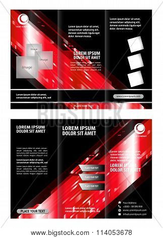 Tri-fold technology Style Brochure Layout Design Template