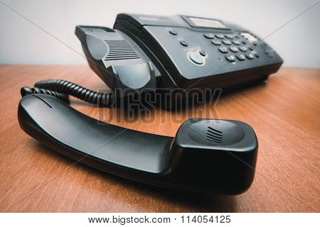 Fax with picked up handset