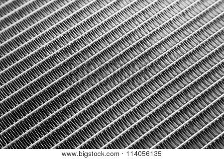 Car radiator close up