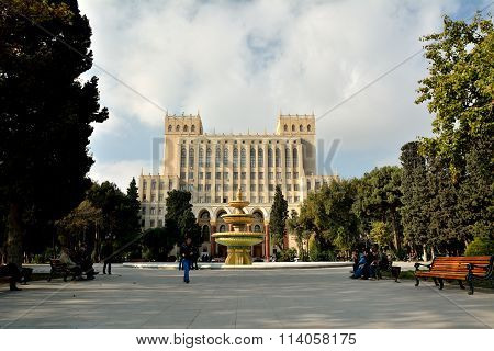 Baku Academy of Sciences, in Azerbaijan's capital city