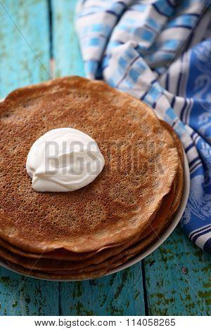 chocolate pancakes for Shrovetide