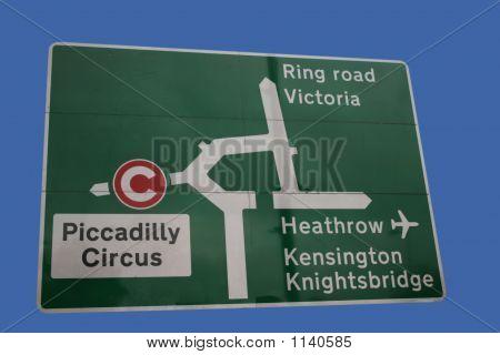 Road Sign At Hyde Park Corner