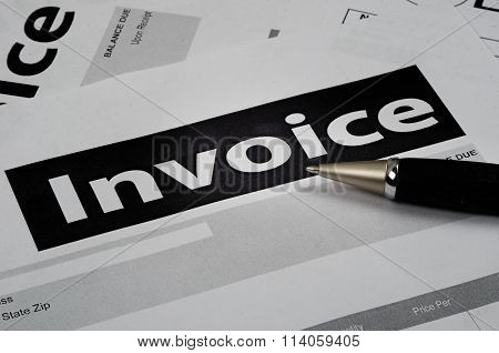 Invoice Forms On A Light Table