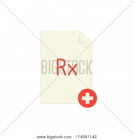 medical prescription with red rx symbol and cross