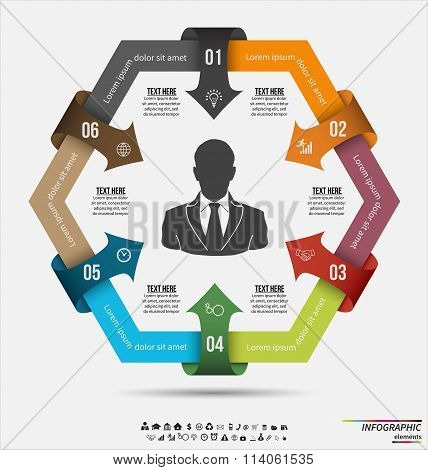Infographic template . Design concept for presentation or diagram. Vector EPS10.