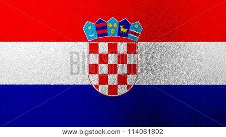 Flag of Croatia, Croatian flag painted on glass