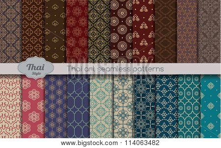 vector damask pattern background. thai style pattern