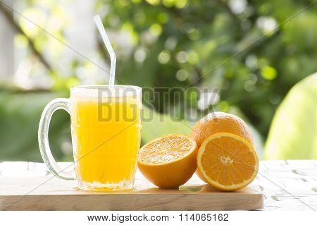 Glass Of Orange Smoothie