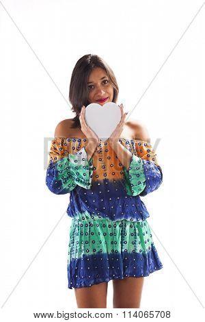Woman holding an heart shape