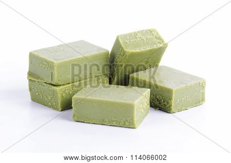 Group Of Powdered Green Tea Chocolate
