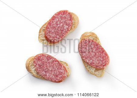 Salami On Bread Top