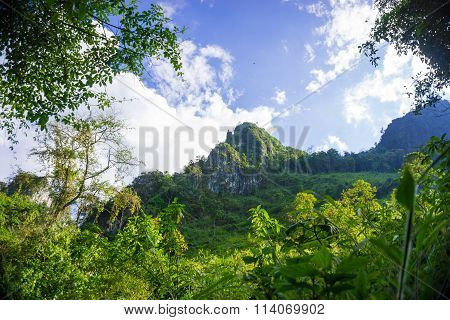 View Of Great Mountains National Park Scenic Landscape