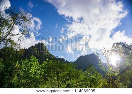 Limestone Mountain Landscape At Doi Luang Chiang Dao