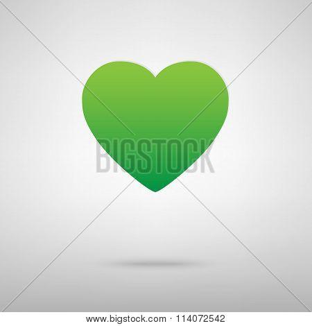 Heart symbol. Green icony backgroud