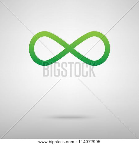 Limitless symbol. Green icon