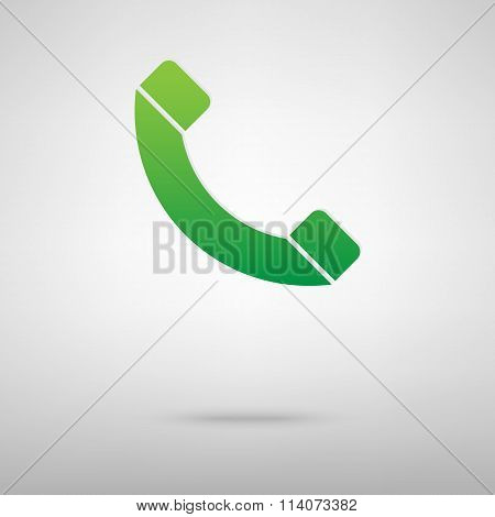 Phone. Green icon with shadow