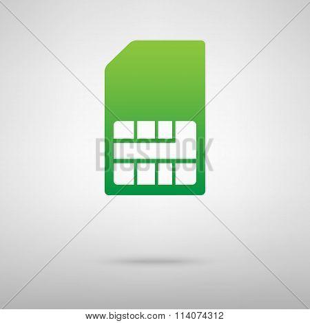Sim card. Green icon