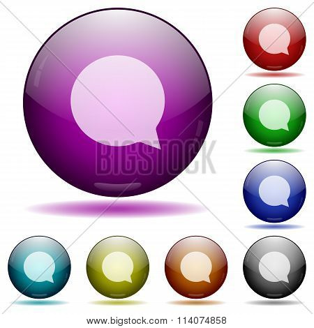 Chat Glass Sphere Buttons