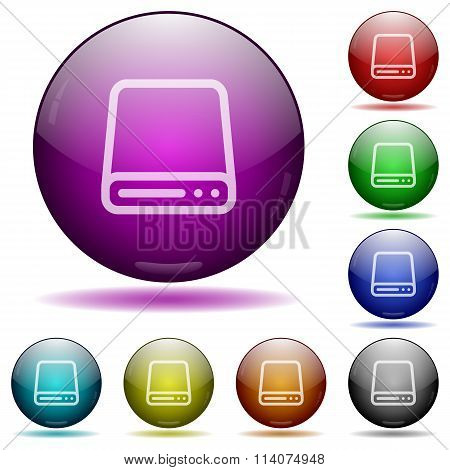Hard Disk Glass Sphere Buttons
