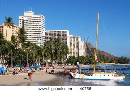 Waikiki Beach,Honolulu,Hawaii