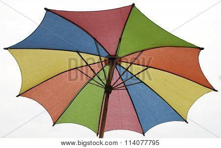 closeup colorful umbrella