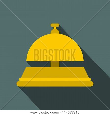 Reception bell flat icon