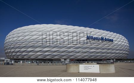 MUNICH, GERMANY - SEPTEMBER 17 2014: The Allianz Arena, Munich, Germany.