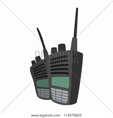 2 military radio set cartoon