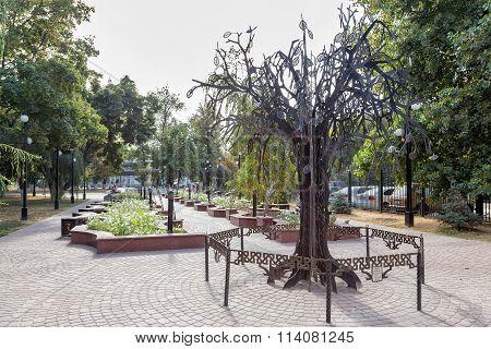 Alley the twin cities. Belgorod. Russia