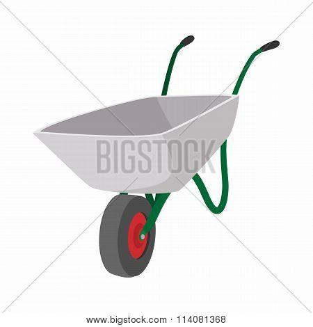 Garden wagon cartoon icon