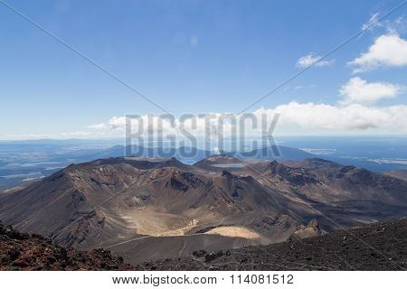 View from the top of Mount Ngauruhoe
