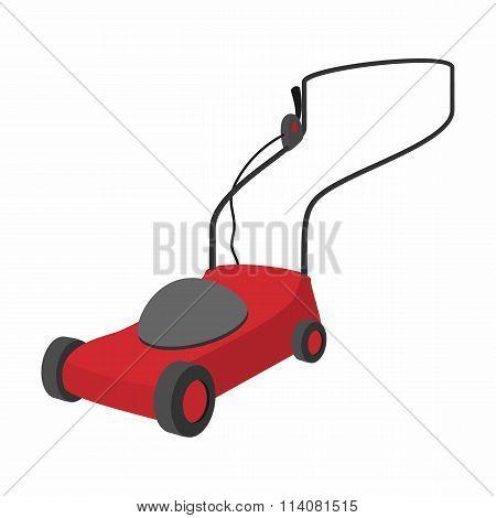 Mower cartoon icon