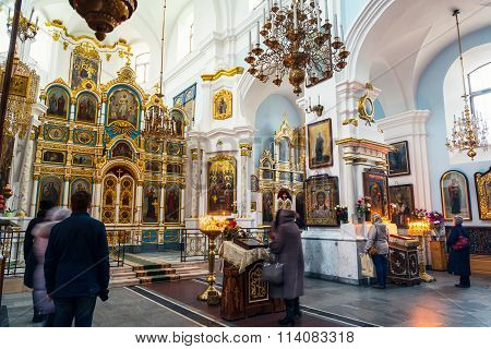 Interior of The Holy Spirit Cathedral in Minsk
